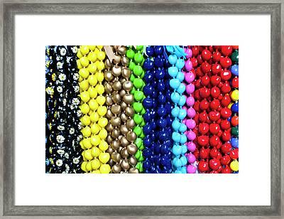 Hawaiian Lei Or Necklaces Display Framed Print by Daisy Gilardini