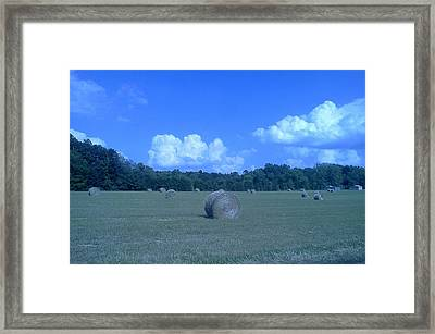 Haystacks Framed Print by Stacy C Bottoms