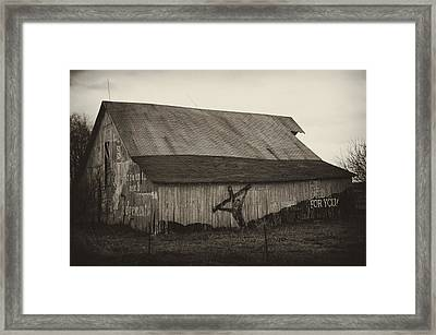 He Died For You Framed Print