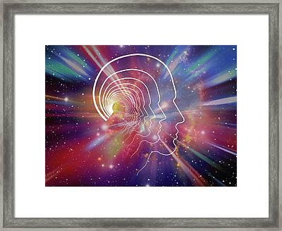 Head Contour Lines Framed Print