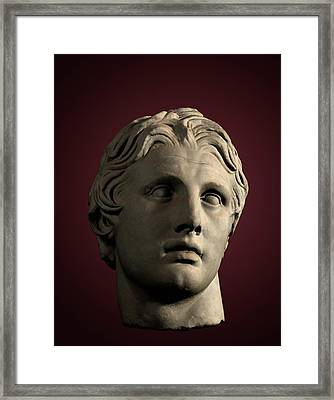 Head Of Alexander The Great Framed Print by David Parker