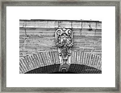 Framed Print featuring the photograph Head Statue by Cendrine Marrouat