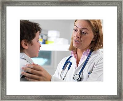 Health Check Framed Print by Tek Image