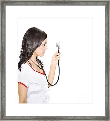 Health Examination Framed Print