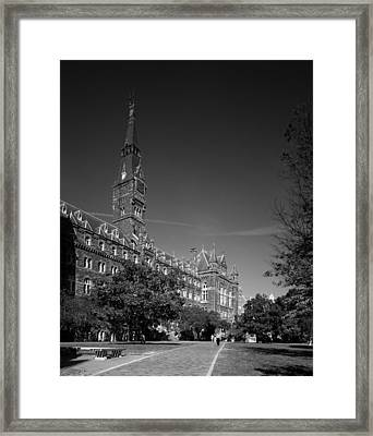 Healy Hall On The Campus Of Georgetown University Framed Print by Mountain Dreams