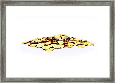 Heap Of Golden Coins Framed Print