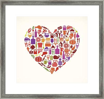 Heart Food & Drink Royalty Free Vector Framed Print by Bubaone