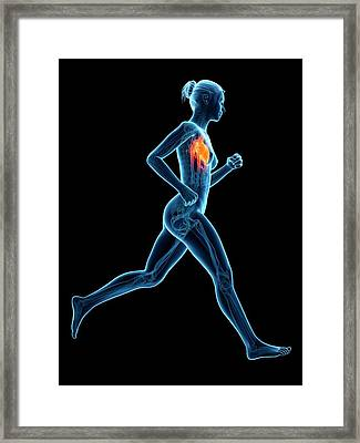 Heart Of A Runner Framed Print