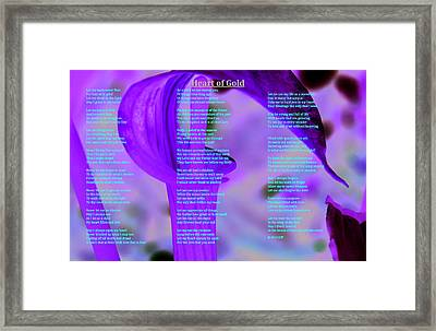 Heart Of Gold Framed Print by Cliff Ball