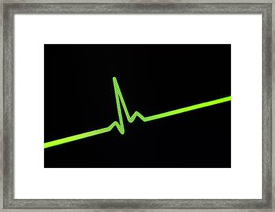 Heartbeat Trace Framed Print by Daniel Sambraus