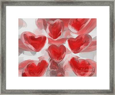 Hearts Afire Abstract  Framed Print by Alexander Butler