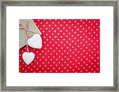 Hearts Framed Print by Tom Gowanlock