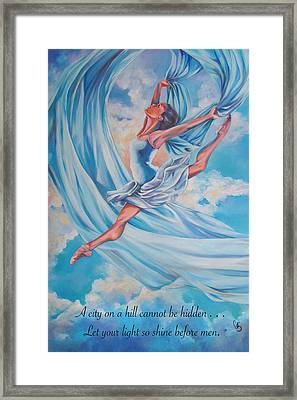 Heavenly Dance Framed Print by Tamer and Cindy Elsharouni