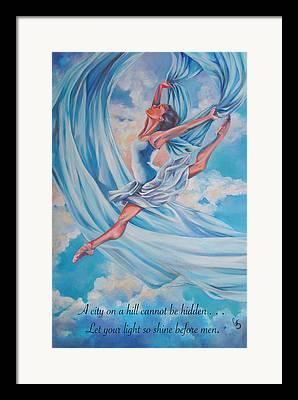Heavenly Body Drawings Framed Prints
