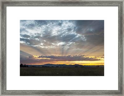 Heavenly Rays Of Light Framed Print by Dana Moyer