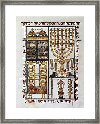 Hebrew Bible 1299 Located In Perpignan Framed Print