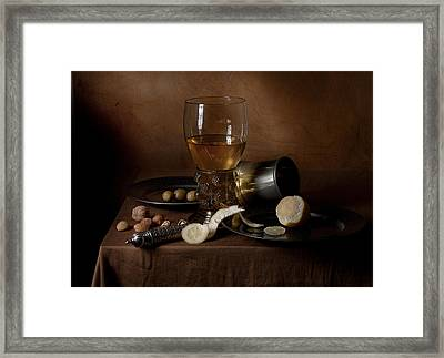 Framed Print featuring the photograph Heda - Still Life 1632 by Levin Rodriguez