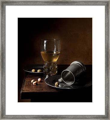 Heda - Still Life With Large Roemer And Goblet Framed Print by Levin Rodriguez