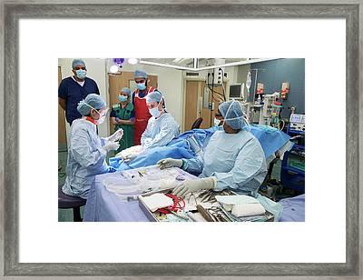 Heel Bone Surgery Framed Print by Mark Thomas