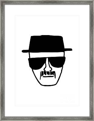 Heisenberg Breaking Bad Framed Print