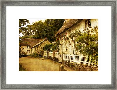 Helford Cottages Framed Print by Brian Roscorla