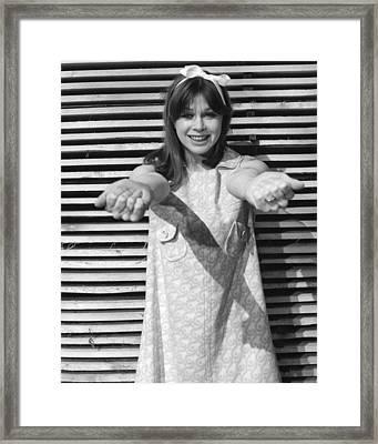 Helga Anders In Ferien In Lipizza  Framed Print by Silver Screen