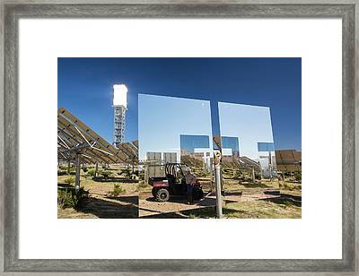 Heliostats At The Ivanpah Solar Framed Print by Ashley Cooper