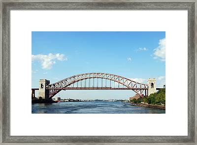 Hell Gate Bridge Framed Print by Jim Poulos