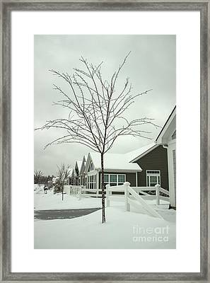 Hello Snow Framed Print