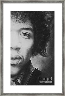 Hendrix Framed Print by Adrian Pickett