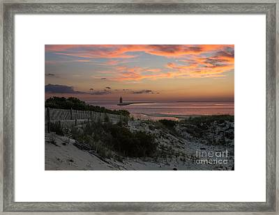 Henlopen Sunset Framed Print