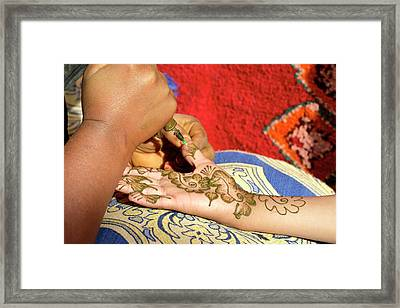Henna Tattoo Framed Print by Thierry Berrod, Mona Lisa Production