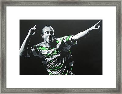 Henrik Larsson - Celtic Fc Framed Print