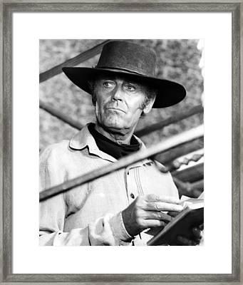 Henry Fonda In C'era Una Volta Il West  Framed Print by Silver Screen