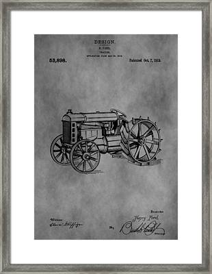 Henry Ford Tractor Patent Framed Print by Dan Sproul