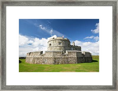 Henry Viii's Fort At Pendennis Castle Framed Print by Ashley Cooper