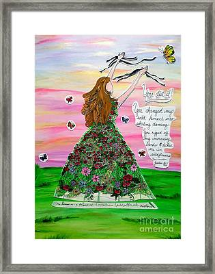 Her Name Is Wildflower Framed Print by Michelle Bentham
