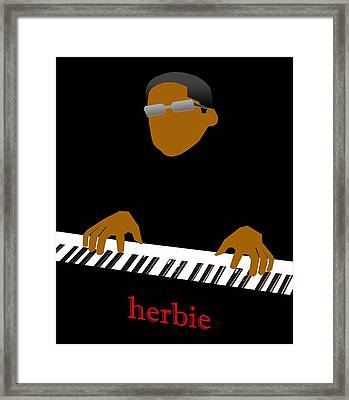 Herbie Hancock Framed Print by Victor Bailey