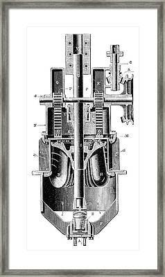 Hercule-progres Turbine Framed Print by Science Photo Library