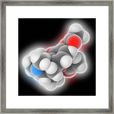 Heroin Drug Molecule Framed Print by Laguna Design