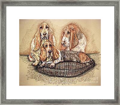 Hess'er Puppies Framed Print by Linda Simon