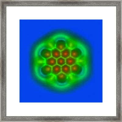 Hexabenzocoronene Molecule Framed Print