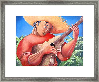 Hidalgo Campesino Framed Print by Oscar Ortiz
