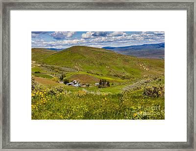 Hidden Ranch Framed Print by Robert Bales