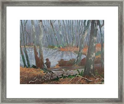 Framed Print featuring the painting Hidden Treasure by Tony Caviston