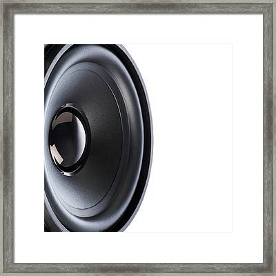 Hifi Loudspeaker Framed Print by Science Photo Library