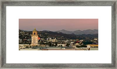High Angle View Of A City, Beverly Framed Print