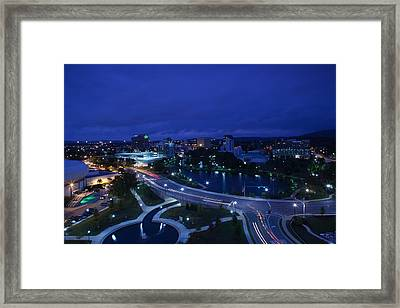 High Angle View Of A City, Big Spring Framed Print