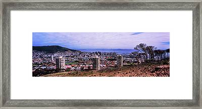 High Angle View Of A City, Disa Park Framed Print