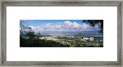 High Angle View Of A City, Studio City Framed Print